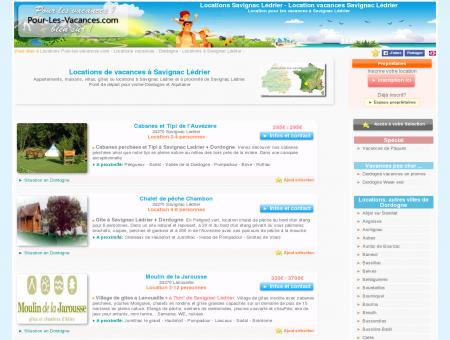 Location vacances Savignac Lédrier, locations...