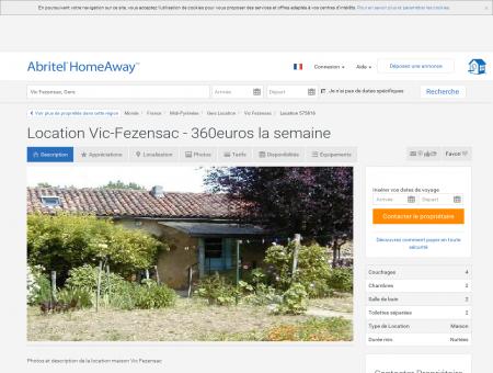 Location Vic-Fezensac - 360euros la semaine -...