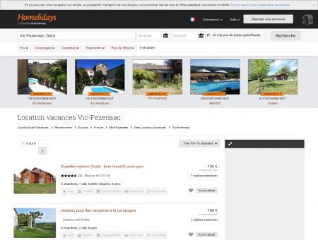 Location vacances Vic-Fezensac : location...