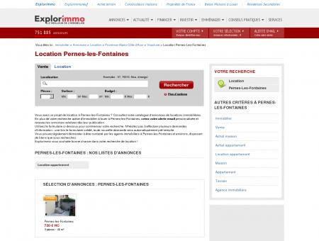 Location Pernes-les-Fontaines : immobilier à...