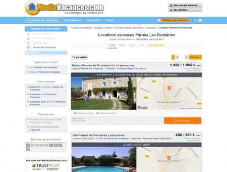 Locations vacances Pernes Les Fontaines -...