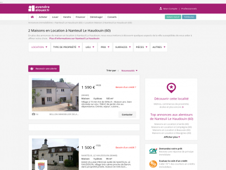 Location Maison Nanteuil Le Haudouin (60) |...