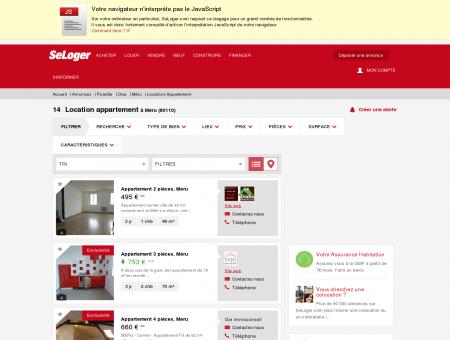 Location d'appartements Méru (60110)   Louer...