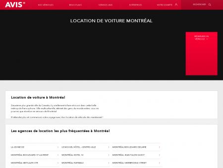 Location de voiture Montréal   Avis
