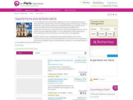 Location Appartements a Paris Pres de Notre...