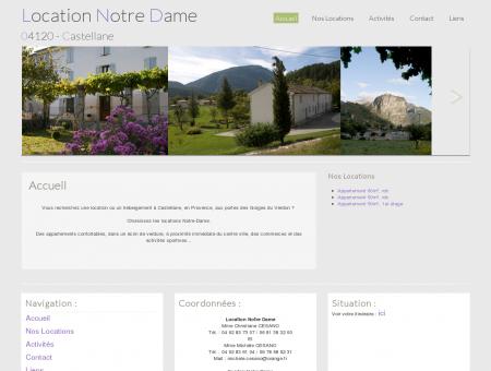 Location Notre Dame - Castellane : Accueil