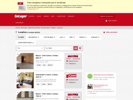 Location immobilier Outreau (62230) | Louer à...