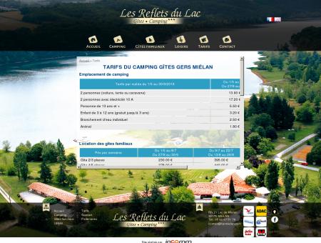Camping gîtes Gers Miélan, les tarifs - Lac...