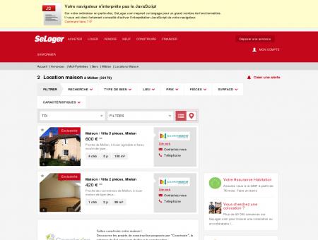 Location de maisons Miélan (32170) | Louer...