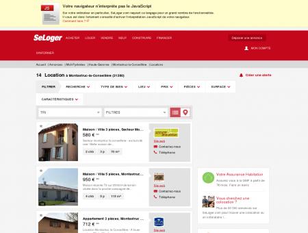 Location immobilier Montastruc-la-Conseillère...