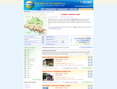 Location vacances Oust (09140) - Location...