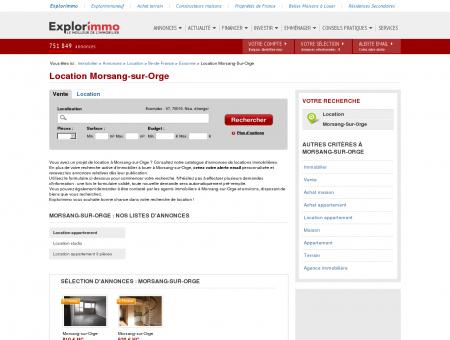 Location Morsang-sur-Orge : immobilier à...
