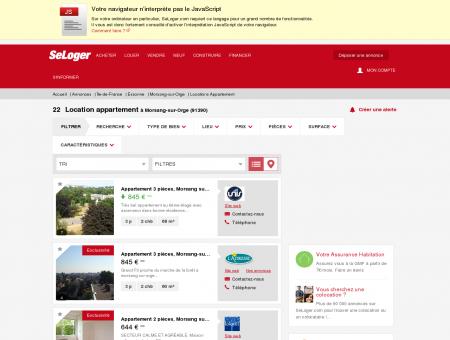 Location d'appartements Morsang-sur-Orge...