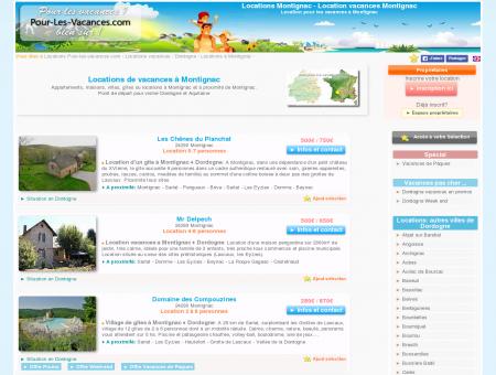 Location vacances Montignac, locations...