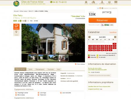 Location Gîte n°G1953, à Neuvy Gîtes de...