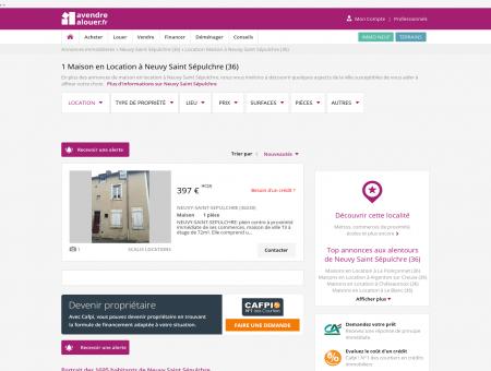 Location Maison Neuvy Saint Sépulchre (36) |...