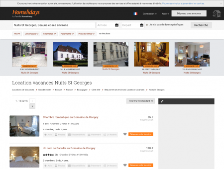 Location vacances Nuits St Georges : location...