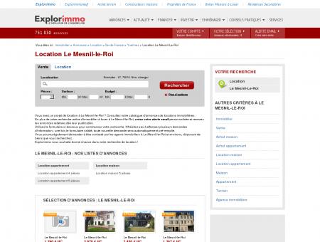 Location Le Mesnil-le-Roi : immobilier à louer...