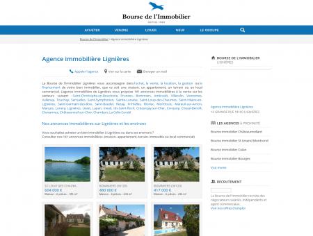 Agence immobilière Lignières (18160), achat,...