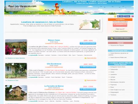 Location vacances L Isle en Dodon, locations...