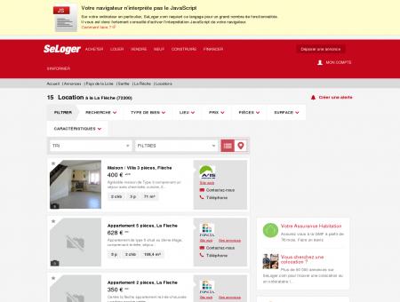 Location immobilier La Flèche (72200) | Louer...