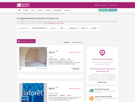 Location Appartement Lisieux (14) | Louer...