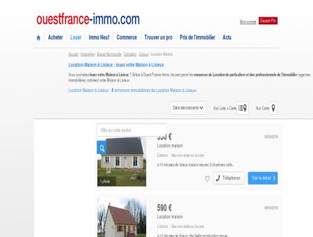 Location Maison à Lisieux : louez votre Maison...