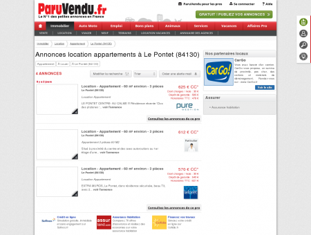 Location appartement à Le Pontet (84130) :...