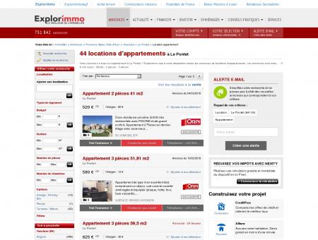 Location d'Appartements à Le Pontet (84) :...