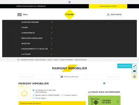 Agence - MARIGNY IMMOBILIER - 50570 -...
