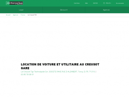 Location de voiture et utilitaire au Creusot Gare ...