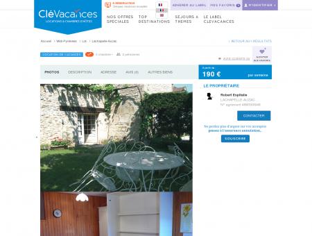 Location de vacances - Lachapelle-Auzac -...