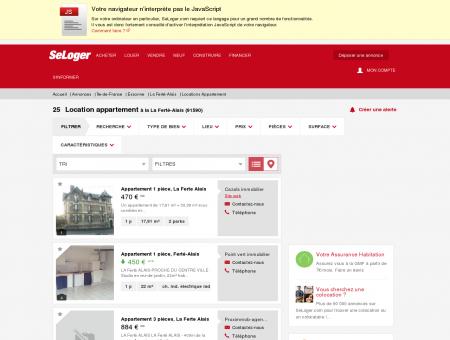 Location d'appartements La Ferté-Alais...