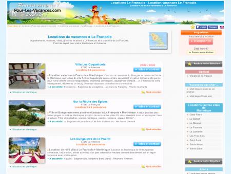 Location vacances Le Francois, locations Le...
