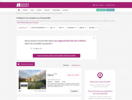 Location Maison Le Fossat (09) | Louer Maison...