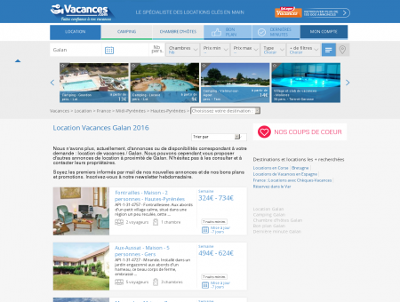 Location Vacances Galan - Locations Galan...