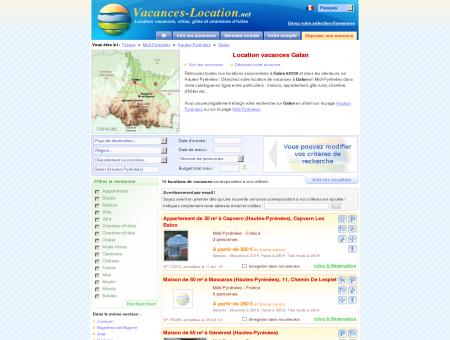 Location vacances Galan (65330) - Location...