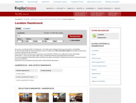 Location Hazebrouck : immobilier à louer...