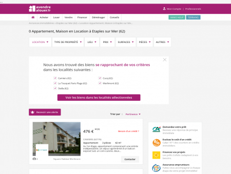 Location Etaples | avendrealouer.fr