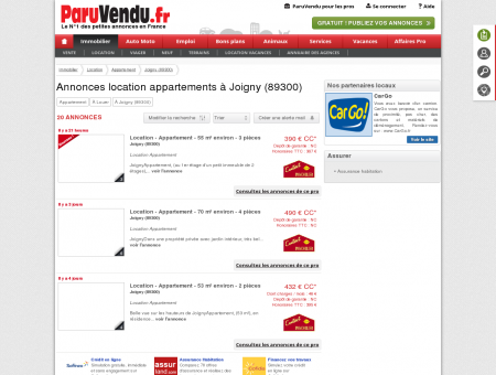 Location appartement à Joigny (89300) :...