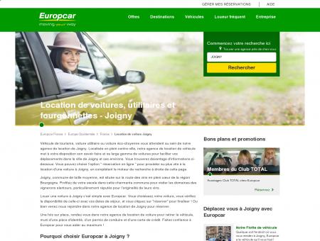 Location de voiture à Joigny, France - Europcar
