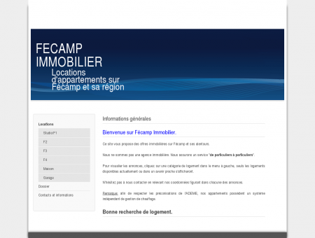 FECAMP IMMOBILIER Locations...