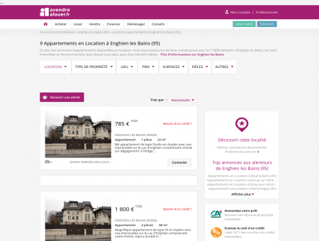 Location Appartement Enghien les Bains (95) |...