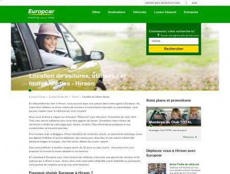 Hirson - Location voitures utilitaires | Europcar...