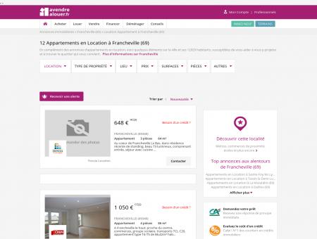 Location Appartement Francheville (69) |...