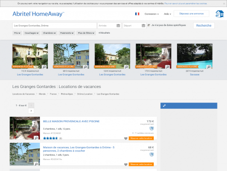 Location vacances Les Granges Gontardes :...
