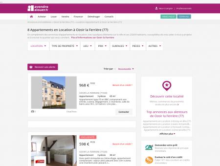 Location Appartement Ozoir la Ferrière (77)  ...