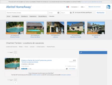 Location vacances Chartrier Ferriere : toutes...