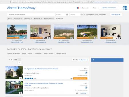 Location vacances Labastide de Virac : toutes...