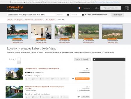 Location vacances Labastide de Virac :...